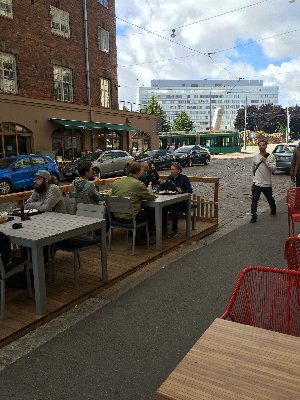 Parking space as terrace