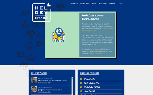 dev.hel.fi screenshot